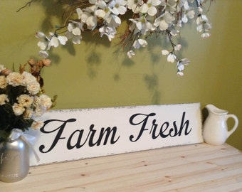Farmhouse Decor, Rustic Home Decor, Wood Sign, Wood Signs, Wooden Sign, Farm Fresh, Country Home Decor, Rustic Wall Art, Housewarming Gift
