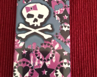 Skulls And Bows Iphone 4 and 5 Plastic Case Free Shipping