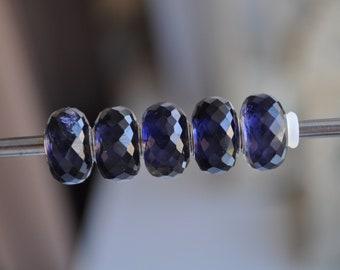 Natural Iolite - gemstone charmbead
