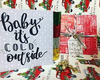Baby It's Cold Outside: Mini Calligraphy Christmas Poster