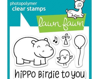 """LAWN FAWN-Clear Stamp 3"""" x 2""""- Year Four"""