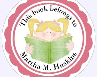 Personalized Children Stickers, Custom (Book Belongs To) Bookplate Labels, Stickers - 2.5 inch round - Personalized for YOU