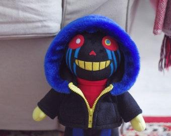 Error Sans AU Errortale Soft Toy Plushie Handmade Stuffed Toy Undertale