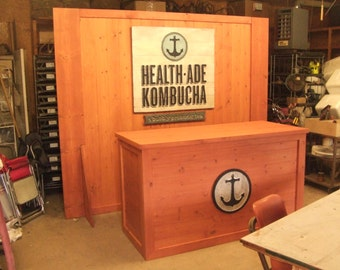 Trade Show Rustic custom portable wall - display for shop or booth - Wall only