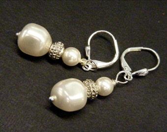 Little Flower Girl Swarovski Crystal Pearl Earrings