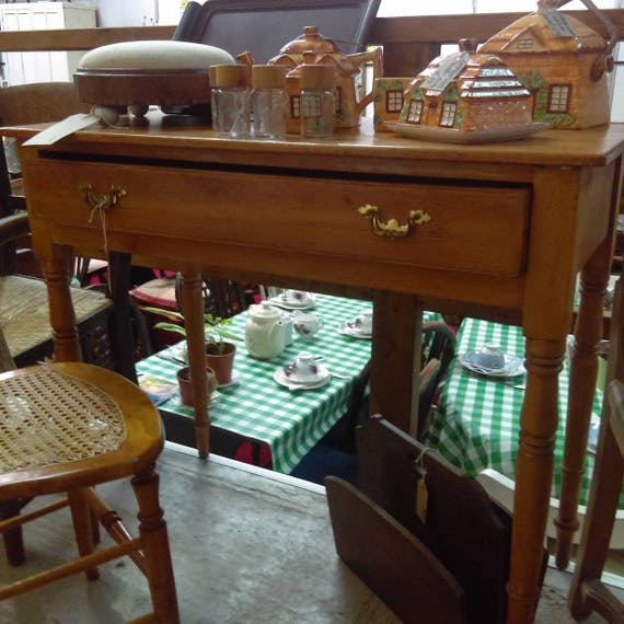 ... Old antique pine ladies desk or side table hall table lamp table  collect from us or - Desks And Tables - The Shabby Chic Shac Herefordshire England