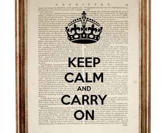 Keep Calm And Carry On Poster, Dictionary Art Print, Keep Calm And Carry On, Quote prints, Quote Wall Art, Quote Art, Motivational Poster