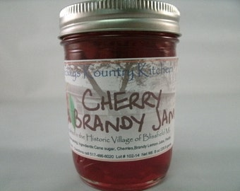 Cherry Brandy Jam Homemade by Beckeys Kountry Kitchen jam jelly preserves fruit spread nandcrafted artisan quality