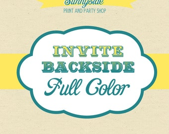 Add a Double Side / Back Side to any Sunnyside Invite or Package