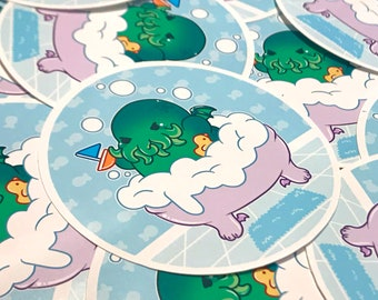 Call of the Bubbles - Cthulhu Nugget Sticker