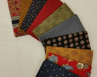 British Royalty Fat Quarter Bundle of 10 different Civil War prints