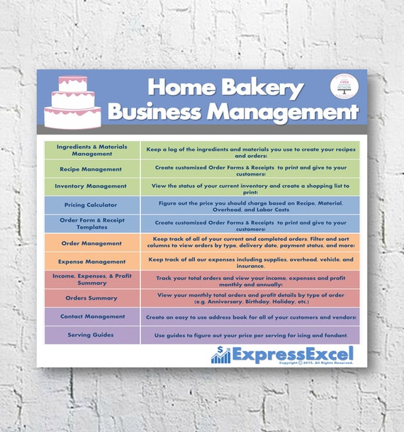 Cake Decorating Home Bakery Business Management Software - Free cake invoice template best online jewelry store