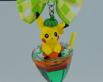 Pokemon Pikachu ピカチュウ Halloween Cocktail Necklace