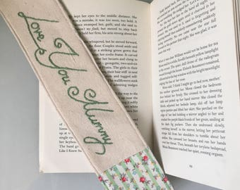 Mothers Day Hand Embroidered Bookmark