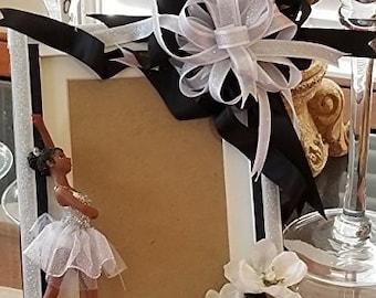 Black Girl Magic Ballerina 5x7 or 4x6 Inch Photo Frame (Portrait)