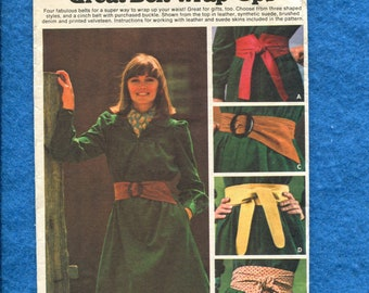 1970's Butterick 4497 Sashes & Belts Pattern  UNCUT