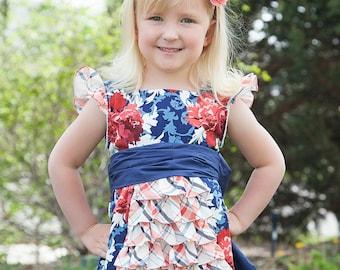 Ruffled Whimsy Dress Girls sizes 2T-7