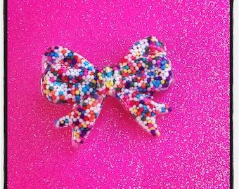 Sprinkle Bow Hair Clip