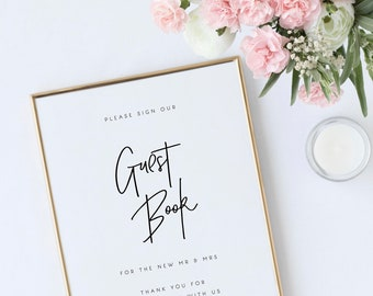 Guest Book Sign Template Wedding Printable Guest Book Sign Guest Book Ideas Wedding Printable Wedding Template PDF Instant Download Templett