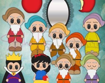 Mirror Mirror Clipart DIY Mirror Mirror Kids Story FairyTale  Clip Art Illustrations Instant Download