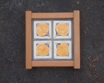 SALE Aspen Tile in a Arts and Crafts Hand Crafted Frame