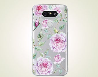 Vintage Floral Rose TPU Soft case for LG G2 G3 case G4 case G5 case G6 case Nexus 5 case Nexus 5X case V10 case V20 case