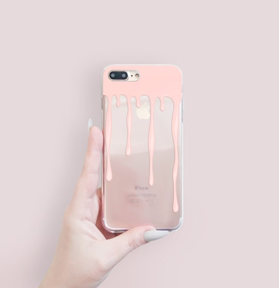 Nude Drip Clear I Phone X Case Clear I Phone 8 Case Clear I Phone 7 Plus Clear Case Gift For Her Clear I Phone 5 S Case Clear, Paint I Phone Case by Etsy