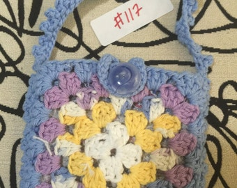 Crocheted Granny Square Purse #117