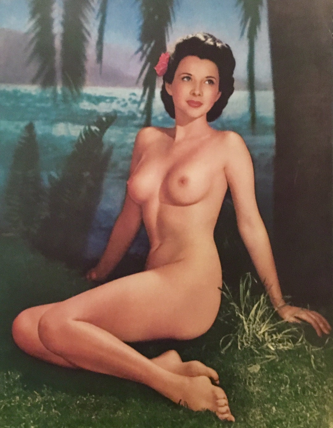 Vintage CALENDAR Photo NUDE - ALOHA by Burnham Stunning ...