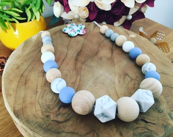 Breastfeeding necklaces silicone and wood