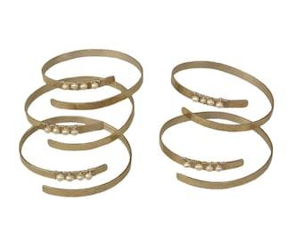 Bridesmaid cuff bracelet set, silver tone cuff, adjustable bangle, maid of honor gift, wedding bridesmaid gift set, bridesmaid proposal