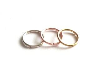 18 Gauge Nose Ring, 18g Cartilage Earring, Gold Nose Hoop, Silver Nose Hoop, Septum Nose Ring, Tragus Ring, 18g Septum Ring, 18g Helix Hoop