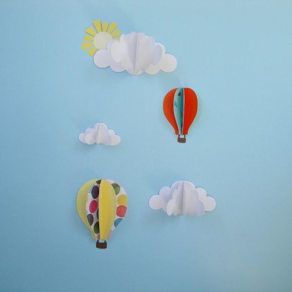 & Kids Wall Decor Set of 3D Wall Decals-3D Wall Art-Nursery