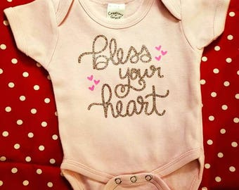 Bless Your Heart Onesie