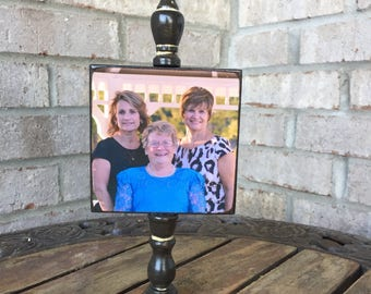 Photo Board - Memory Pole - Wood Block - family photo - unique gift