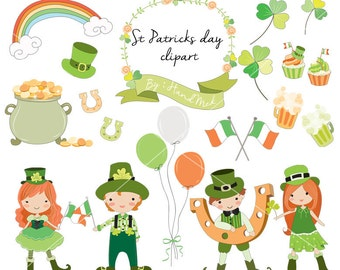 St Patrick's day clipart Instant Download PNG file - 300 dpi