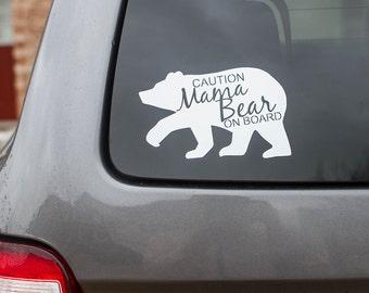Mama Bear Decal, Mama Car Decal,  Car decal, Car Sticker, Vinyl Decal, Mama Bear, Mama Bear car decal, Mom decal,  Mamma Bear