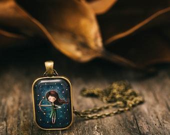 Sagittarius Necklace / Sagittarius Astrology Keychain / Astrology Starsign / Star Sign Jewelry / Celestial / Sagittarius / Free Shipping