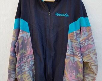 Vintage Retro 1990s Reebok Windbreaker Jacket - Size L