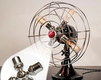Fan Lamp Kit | DIY Kit | How To | Lamp Parts | Lamp Supplies | Guide | Parts | Tutorial Fan Lamp
