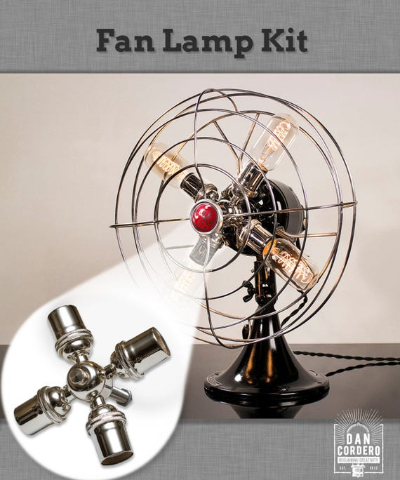 Fan lamp kit diy kit how to lamp parts lamp supplies like this item aloadofball Image collections