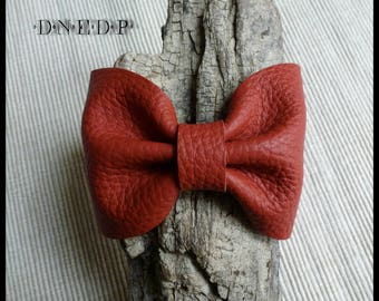 Knot bracelet made of leather red #2
