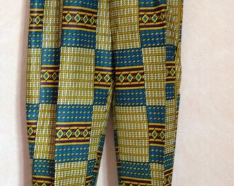 Pants mixed multicolored African fabric
