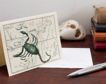 Zodiac Sign Scorpio Constellation Greeting Card