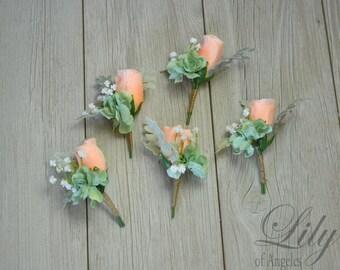 Corsage, Pin Corsage, Wrist Corsage, Boutonniere, Silk Flower Corsage, Wedding Corsage, Rustic Boutonniere, Silk Boutonniere, LilyOf Angeles