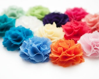 Handmade Chiffon flower hair clip with pin -Choose your Color