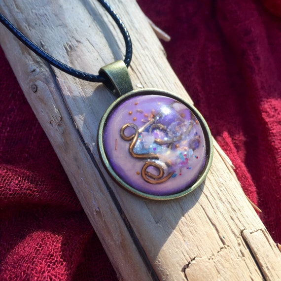 Love Attraction Orgone Energy Pendant- Amethyst- Rose Quartz Orgone Energy Necklace- For Dream Work- Abundance- Manifestation & Luck