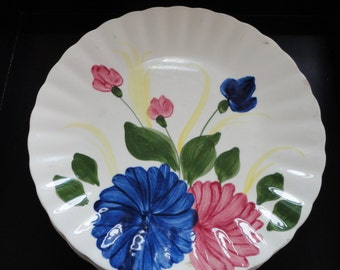 Blue Ridge Southern Potteries Chrysanthemum Plates - Set of 3