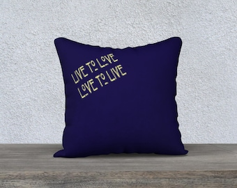 Live To Love Throw Pillow