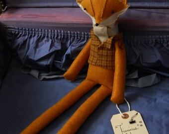 Ooak Fox  Plush Woodland Animal made to order